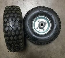 "1Pair 10"" Tire Flat Free 5/8"" Hand Truck Dolly Wheels Tubeless Steel Hub 500# HD"