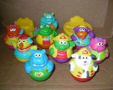 """PLAYSKOOL WEEBLES (9) w/ BEDS ~ """"Weebles wobble but they don't fall down!"""""""