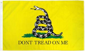 Gadsden Flag 3x5ft Yellow Snake Flag Don't Tread on Me Flag Nylon 200D