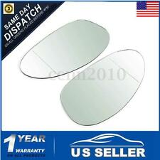 Pair Wide Angle Wind Door Mirror Glass Right & Left Hand For BMW Z4 2002-2008