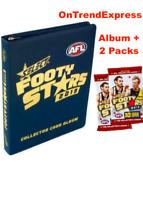 AFL SELECT FOOTY STARS ALBUM BINDER FOLDER + 2 PACKS OF CARDS NEW 2019