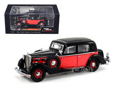 1935 MAYBACH SW35 SPOHN BLACK/RED HARDTOP 1/43 BY SIGNATURE MODELS 43702
