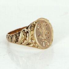 Antique Edwardian c1915 Signet Ring Initial S Vintage Fine Jewelry Heirloom Fine