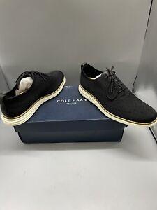 NEW Cole Haan Zerogrand Cotton Stitchlite Wingtip Shoes Navy Black 10M Y2