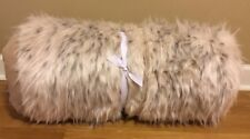 NEW Pottery Barn Teen SNOW CAT Faux Fur Hooded Sleeping Bag IVORY