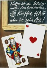 Original vintage poster COFFEE HAG & PLAYING CARDS 1948