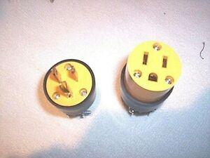12 Electrical plugs 6 male 6 female PLUGS 15 amp 125V 3 Prong FREE USA SHIPPING