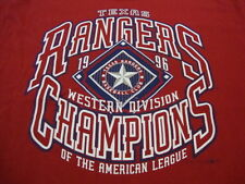 Vintage MLB Texas Rangers Major League Baseball Fan 1996 Champions T Shirt XL