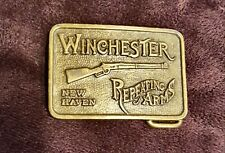 "Vintage Brass Winchester Repeating Arms New Haven Belt Buckle 1.5"" x 2.5"" New"