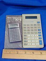 Texas Instruments TI-30-II Scientific Calculator Vintage w/Manual Early Computer