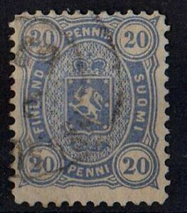 FINLAND 1875 Coat of Arms - Four figured Issue Sc #21 /Mi: FI 16Axb/ 20p STAMP