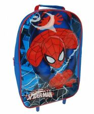 Official Spiderman Spiderweb Wheeled Trolley Cabin Bag Luggage Childrens