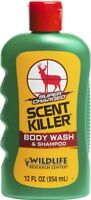 NEW! Wildlife Research Scent Killer Shampoo and Body Wash 12 oz. 540-12