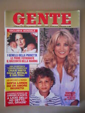 GENTE n°28 1981 Barbara Bouchet Sofia Loren Intervista Amedeo D'Aosta [G776]