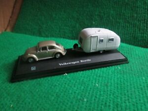 CARARAMA VW BEETLE & CARAVAN (1:72 SCALE) LOT K82