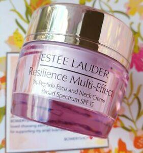 Estee Lauder Resilience Multi Effect Tri Peptide Face& Neck Creme SPF15,0.5oz