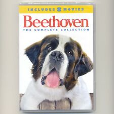 Beethoven: The Complete Collection, 8 family movies, new DVD, 2017 4-disc set