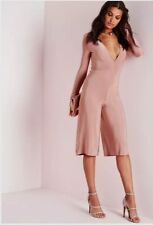 Plunge collotte Jumpsuit Dark Rose Size 10 Missguided Wedding Day outfit Sexy