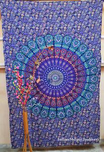 Indian Decor Mandala Tapestry WallHanging Hippie Throw Bohemian Single Bedspread