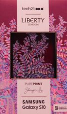 #1145  Samsung Galaxy S10   Tech21 Pure Print Liberty Shangri-La Case - Burgandy