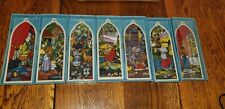 1989 Precious Moments Complete Set Stained Glass Church Window Ornaments New
