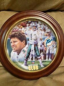 Dan Marino miami dolphins collectable quarterback club plate