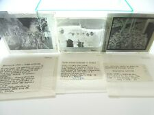 "4X ORIGINAL WWII GERMAN PRISONER POW STRASBOURG LONDON, PRESS 5"" GLASS NEGATIVES"
