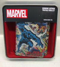 Marvel Avengers Black Panther Genuine Leather Trifold Wallet