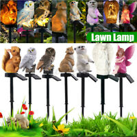 RGB Solar LED Lamp Stake Pathway Lawn Outdoor Yard Garden Decor Landscape Light