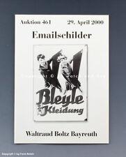 Catalogue vente aux enchères Boltz Email panneaux avril 2000