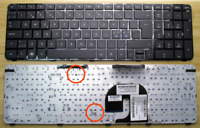 New Keyboard for HP Pavilion DV7-4000 DV7-5000 Laptop 605344-001 with Frame