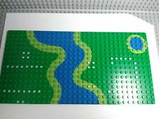 Lego Baseplate 16×32 With River From Set 6071 Forestmen's Crossing