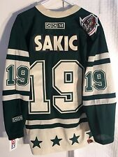 CCM Classic NHL Jersey Colorado Avalanche Sakic Green Western AllStar sz M