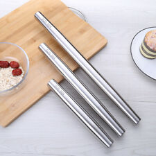 Stainless Steel Rolling Pin Pasta Fondant Cake Baking Tools Dough Roller Kitchen