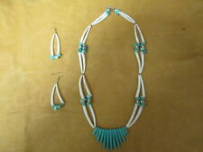 DENTALIUM NECKLACE & EARRING SET
