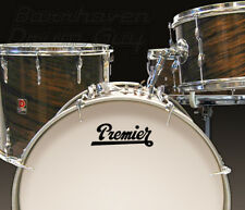 Premier, Vintage, Repro Logo #1 - Adhesive Vinyl Decal, for Bass Drum Reso Head