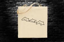 Bongo Cat Meme inspired tote bag long handles