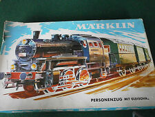 Rare Vintage Tin Plate Marklin Passenger Train set without any track No 3100