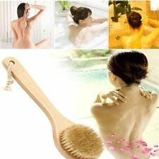 100% Natural Boar Bristle Long Handle Wooden Bath Dry Skin Body Brush Spa Bath