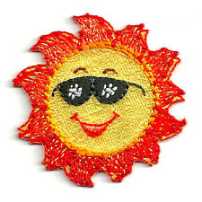 Sun - Summer - Beach - Sunglasses - Sunshine - Embroidered Iron On Patch