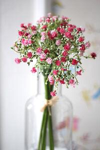 hübsch Strauß Schleierkraut 💐 Gypso Bund 6 Stiele 15x30cm Rosa Frühling Vintage