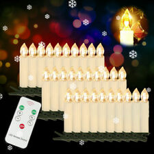 10-100er LED Weihnachtskerzen Kabellose Christbaumschmuck Lichterkette Warmwei�Ÿ