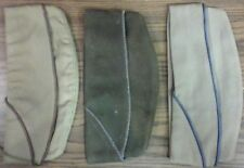 ORIGINAL US ARMY AIR CORPS PIPED ENLISTED Khaki / Olive WOOL GARRISON CAP