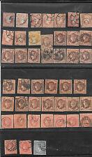España. Conjunto de 42 sellos de 4 ctos y pareja vertical RC 30
