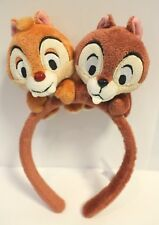 DISNEY HEADBAND TOKYO DISNEYRESORT CHIP AND DALE BROWN EARS HAT JAPAN F/S