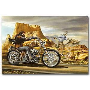 Ghost Rider David Mann Motorcycle Art Silk Poster Print 12x18 24x36 inch