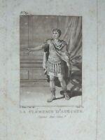 Grabado Teatro Traje Cinna El Clemencia Augusto El Barbero Janinet Siglo XVIII