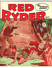 """Red Ryder No 77 1950's -Australian-""""Ryder Shooting Pink Cloud Cover ! """""""