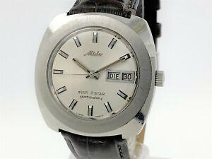 MIDO Multi Star Datoday Vintage Watch 001147-2NCD Manual-Wind Rare (SO220)