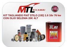 KIT TAGLIANDO FIAT STILO (192) 1.6 16v 76 kw CON OLIO SELENIA 20K 4LT